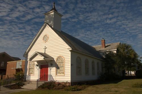 Historic Saint Pauls Catholic Church Now Saint Andrews Anglican Douglas GA Photograph Copyright Brian Brown Vanishing South Georgia USA 2015