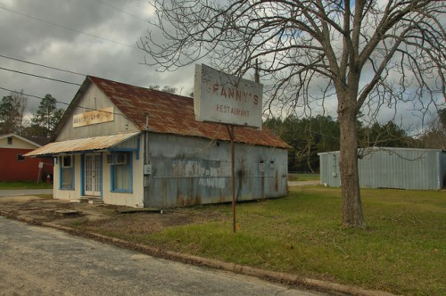 Historic Scotland GA Telfair County Smiths Grocery Grannys Restaurant Photograph Copyright Brian Brown Vanishing South Georgia USA 2015