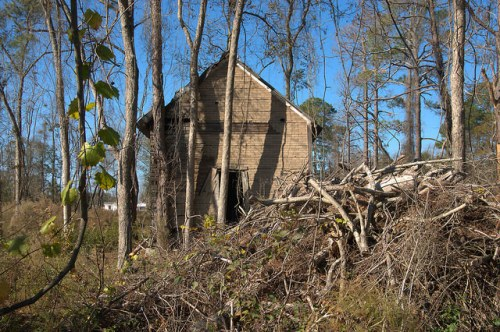Irwin County GA Tar Paper House Abandoned Photograph Copyright Brian Brown Vanishing South Georgia USA 2015