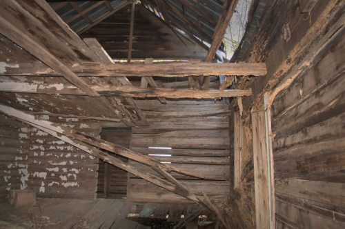 Pioneer Log House Interior Bacon County GA Photograph Copyright Brian Brown Vanishing South Georgia USA 2015