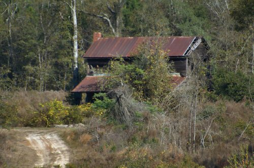 Reidsville GA Tattnall County Plantation Plain Farm House Photograph Copyright Brian Brown Vanishing South Georgia USA 2015