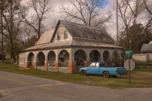 Scotland GA Telfair County Eclectic House Photograph Copyright Brian Brown Vanishing South Georgia USA 2015