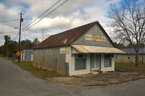 Scotland GA Telfair County Smiths Grocery Gas Oil Tin Building Photograph Copyright Brian Brown Vanishing South Georgia USA 2015