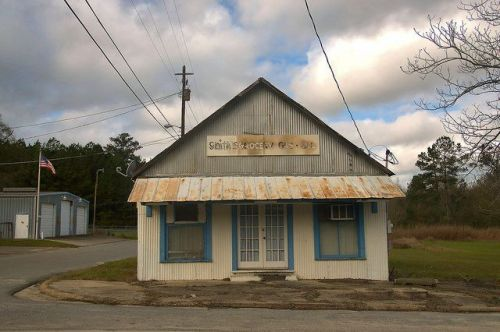 Scotland GA Telfair County Smiths Grocery Tin Building Photograph Copyright Brian Brown Vanishing South Georgia USA 2015