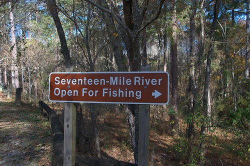 Seveneen Mile River Public Fishing General Coffee State Park Photograph Copyright Brian Brown Vanishing South Georgia USA 2015