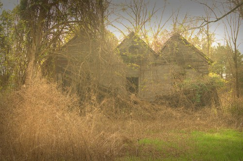 Suomi GA Dodge County Abandoned Triple Gable House Photograph Copyright Brian Brown Vanishing South Georgia USA 2015