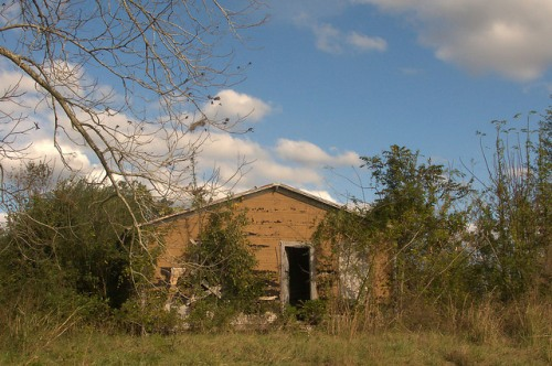 Tar Paper House Near Brushy Creek Church Irwin County GA Photograph Copyright Brian Brown Vanishing South Georgia USA 2015