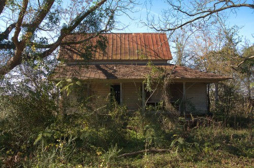 Tattnall County GA Neoclassical Vernacular House Abandoned Photograph Copyright Brian Brown Vanishing South Georgia USA 2015