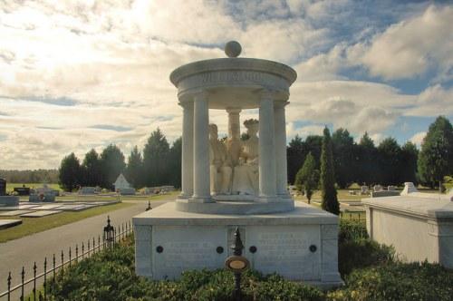 Williamson Mausoleum Marble Gazebo Orphans Cemetery Eastman GA Photograph Copyright Brian Brown Vanishing South Georgia USA 2015