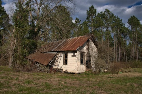 Abandoned Farmhouse Calhoun County GA Photograph Copyright Brian Brown Vanishing South Georgia USA 2016