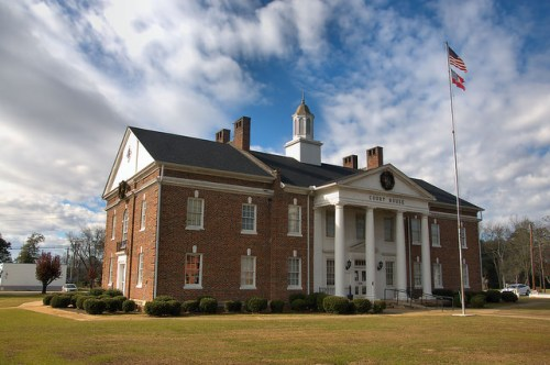 Calhoun County Courthouse Morgan GA Colonial Revival Photogrpah Copyright Brian Brown Vanishing South Georgia USA 2016