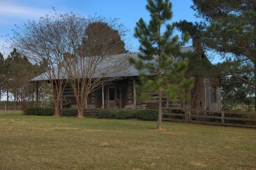 Calhoun County GA Historic Kemph Log Cabin House Photograph Copyrght Brian Brown Vanishing South Georgia USA 2016