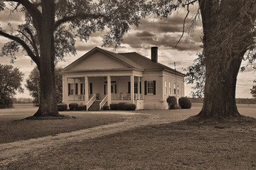 Calhoun County GA Plantation House Photograph Copyright Brian Brown Vansihing South Georgia USA 2016