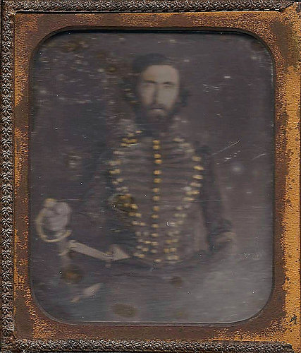Captain Albert Glenn Smith Bryan Independent Riflemen 1st Reg 25th Ga Civil War Tintype Courtesy of Kenneth Dillon Dixon