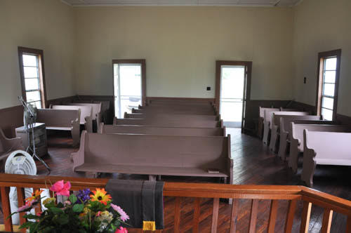 Cedar Grove Methodist Church Wrightsville GA Interior View Photograph Courtesy David Frey