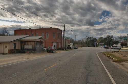 Courthouse Square Storefronts Morgan GA Calhoun County Photograph Copyright Brian Brown Vanishing South Georgia USA 2016