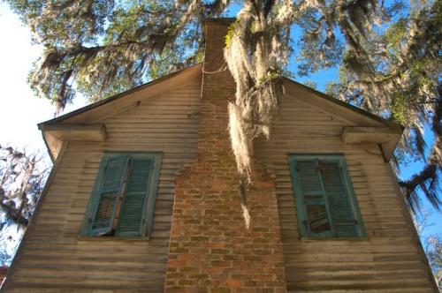 Glen Echo House Bryan County GA Haint Blue Shutters Photograph Copyright Brian Brown Vanishing South Georgia USA 2016
