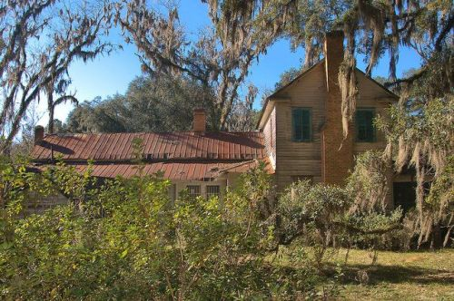 Glen Echo Plantation House Antebellum Bryan County GA Photograph Copyright Brian Brown Vanishing South Georgia USA 2016