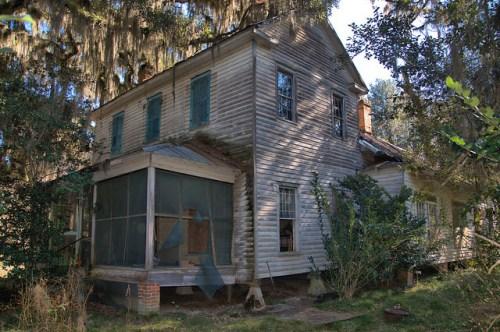 Glen Echo Plantation House Bryan County GA Photograph Copyright Brian Brown Vanishing South Georgia USA 2016