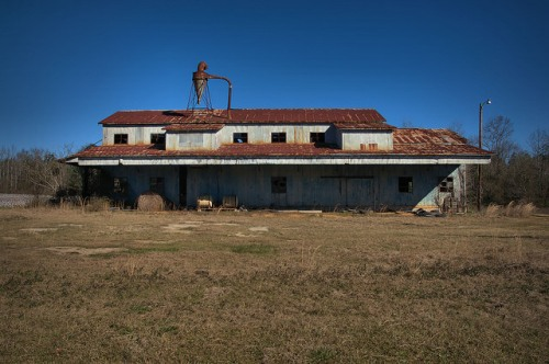 Harrison GA Washington County Abandoned Cotton Gin Photograph Copyright Brian Brown Vanishing South Georgia USA 2016