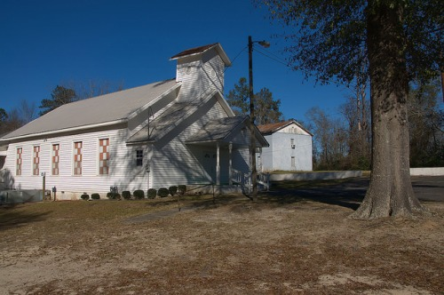 Harrison Springs Baptist Church GA Wshington County  Photograph Copyright Brian Brown Vanishing South Georgia USA 2016