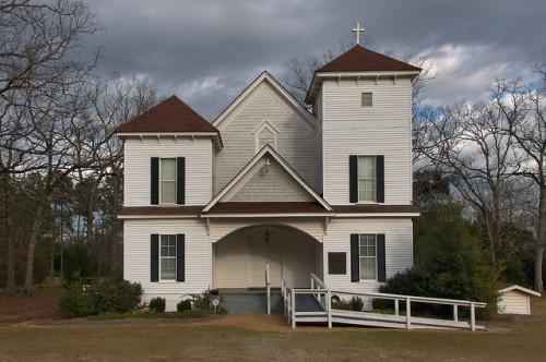 Herod Baptist Church Terrell County GA Photograph Copyright Brian Brown Vanishing South Georgia USA 2016