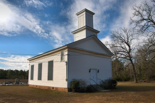 Historic Dickey Presbyterian Church Terrell County GA Landmark Photograph Copyright Brian Brown Vanishing South Georgia USA 2016