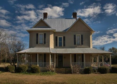 Historic District Parrot GA Folk Victorian House Photograph Copyright Brian Brown Vanishing South Georgia USA 2016