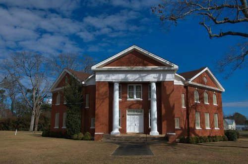 Historic Parrott Baptist Church Terrell County GA Photograph Copyright Brian Brown Vanishing South Georgia USA 2016