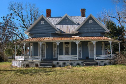 Historic Parrott GA Queen Anne House Photograph Copyright Brian Brown Vanishing South Georgia USA 2016