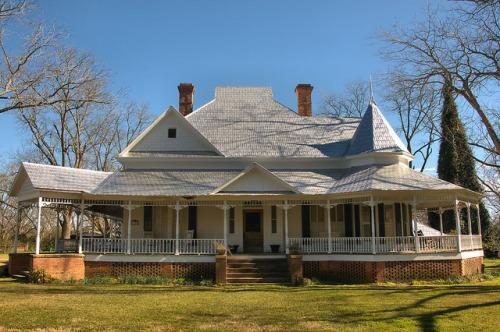 Historic Parrott GA Queen Anne Victorian House Landmark Photograph Copyright Brian Brown Vanishing South Georgia USA 2016