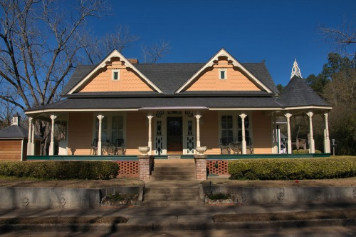Historic Parrott GA Queen Anne Victorian House Photograph Copyright Brian Brown Vanishing South Georgia USA 2016