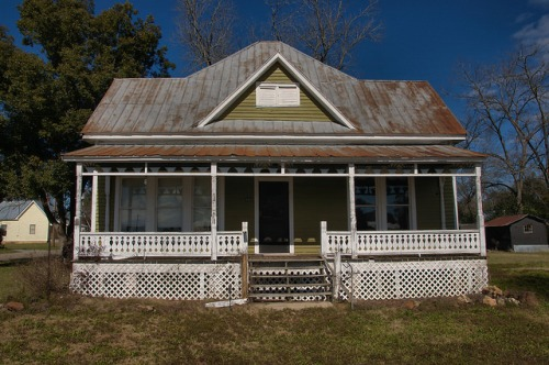 Historic Parrott GA Terrell County Folk Queen Anne House Photograph Copyright Brian Brown Vanishing South Georgia USA 2016