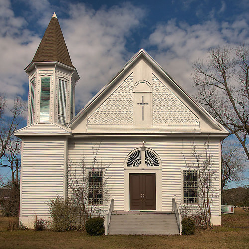 Historic Parrott Methodist Church Terrell County GA Photograph Copyright Brian Brown Vanishing South Georgia USA 2016
