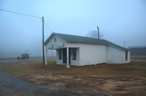 Lands Crossing GA Irwin County Christmas Morning Heavy Fog Country Store 2015 Photograph Copyright Brian Brown Vanishing South Georgia USA 2016