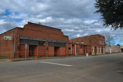 Leary GA Main Street Storefronts Photograph Copyright Brian Brown Vanishing South Georgia USA 2016