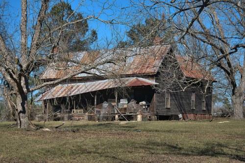 Moores Chapel GA Johnson County Vernacular Farmhouse Photograph Copyright Brian Brown Vanishing South Georgia USA 2016