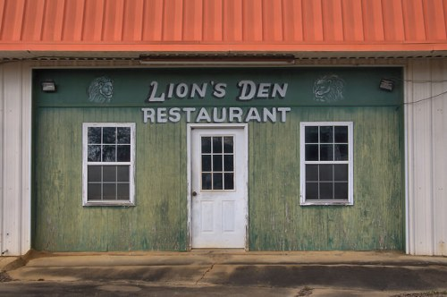 Morgan GA Calhoun County Lions Den Restaurant Photograph Copyright Brian Brown Vanishing South Georgia USA 2016