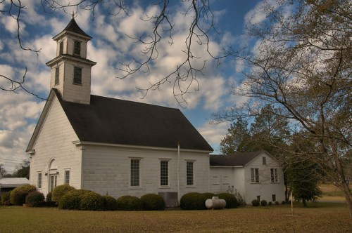 Morgan GA Calhoun County Old Methodist Church Photograph Copyright Brian Brown Vanishing South Georgia USA 2016