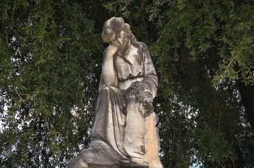 Morgan GA City Cemetery Berta C Wooten Weeping Sculpture Photograph Copyright Brian Brown Vanishing South Georgia USA 2016
