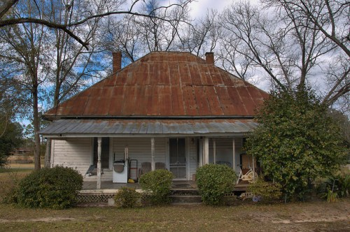 Morgan GA Hip Roof House Photograph Copyright Brian Brown Vanishing South Georgia USA 2016