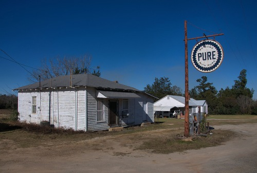 New Home GA Johnson County Pure Station Country Store Photograph Copyright Brian Brown Vanishing South Georgia USA 2016