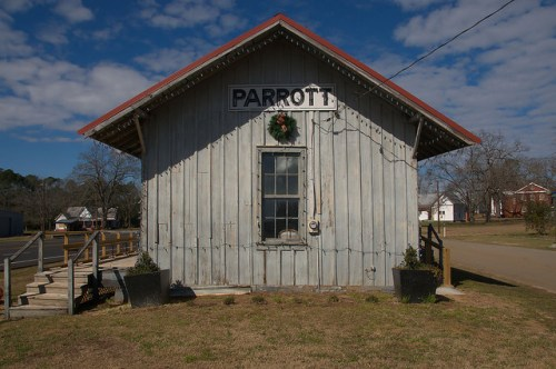 Parrott Depot Seaboard Air Line Columbus Southern Railway Photograph Copyright Brian Brown Vanishing South Georgia USA 2016