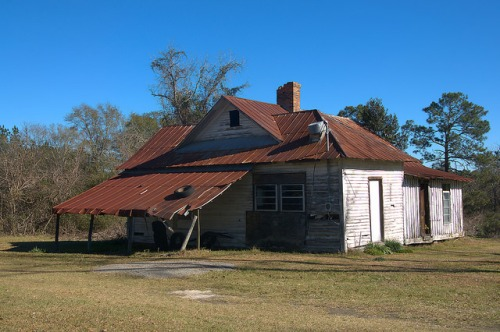 Stillmore GA Emanuel County Vernacular House Photograph Copyright Brian Brown Vanishing South Georgia USA 2016