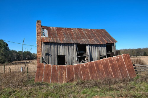Tattnall County GA Hillview Road Vernacular Farmhouse Photograph Copyright Brian Brown Vanishing South Georgia USA 2016