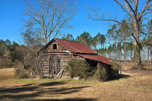 Tattnall County GA Rogers Church Area Barn Photograph Copyright Brian Brown Vanishing South Georgia USA 2016