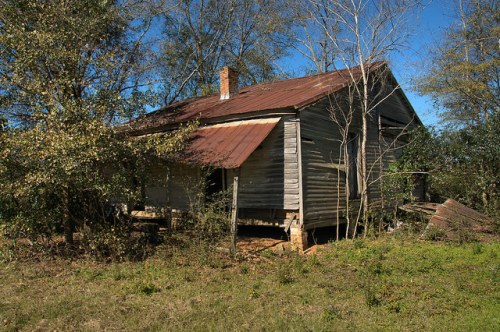 Terrell County GA Abandoned Farmhouse Highway 32 Photograph Copyright Brian Brown Vanishing South Georgia USA 2016