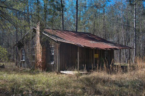 William Riley Brantley Farms Johnson County GA Board and Batten Cabin Photograph Copyright Brian Brown Vanishing South Georgia USA 2016