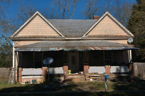 Wrightsville GA Pink Queen Anne Folk Victorian House Photograph Copyright Brian Brown Vanishing South Georgia USA 2016