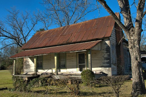 Wadley GA Jefferson County Vernacular House Photograph Copyright Brian Brown Vanishing South Georgia USA 2016